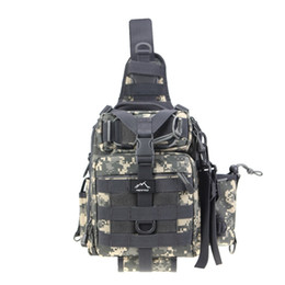 Tactical Shoulder Packs Australia - Hetto Tactical Sling Chest Pack MOLLE-Polyester Waterproof One Strap Crossbody Backpack-Military Shoulder Bag for Fishing #149235
