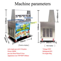 single pan Australia - Temperature control 45cm single pan fried ice cream machine good price fast delivery