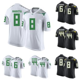 oregon marcus mariota jersey NZ - Marcus Mariota #8 Stitched Mens Oregon Ducks De'Anthony Thomas #6 DeForest Buckner #44 Green White Black Yellow NCAA College Jersey