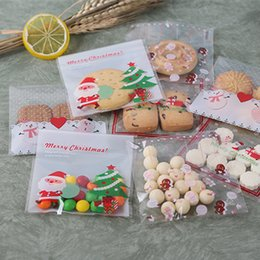 $enCountryForm.capitalKeyWord Australia - 100ps Christmas Cookie Candy Dragee Gifts Bag DIY Self Adhesive OPP Bags Xmas New Year 2020 Noel Decorations for Home Presents
