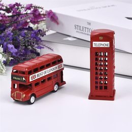 Stationery Australia - heap Figurines & Miniatures Europen London Double-Decker Bus Telephone Booth Model Pencil Sharpener Cartoon Stationery Iron Ornaments...