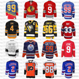 c7285578d cheap 99 Wayne Gretzky 66 Mario Lemieux 9 Bobby Hull Hockey Jersey 9 Gordie  Howe 4 Bobby Orr 33 Patrick Roy 88 Eric Lindros Leetch Messier