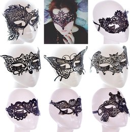 girl half mask NZ - New Sexy Lace Party Masks Women Ladies Girls Masquerade Mask Venetian Half Face Mask Christmas Cosplay Party Eye Masks FA2771