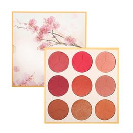 Professional Makeup Contouring Australia - Professional Makeup Blusher Long Lasting 9 Color Minerals Powder Retro Face Base Blush Bronzers Contouring Make Up Palette