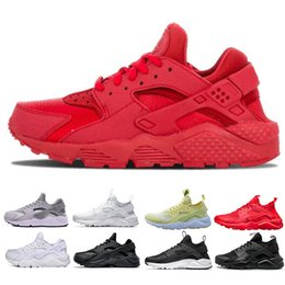 Pink black huarache shoes online shopping - New Huarache Ultra Run shoes triple White Black Red men women Running Shoes yellow grey Huaraches sport Shoe Mens Womens Sneakers