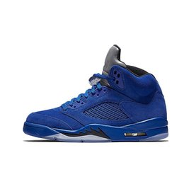 China New 5 men Basketball Shoes blue Red Suede white Cement Olympic OG Black metallic Gold Bordeaux Fire Red Grape sports shoes sneakersMO cheap mesh fire suppliers