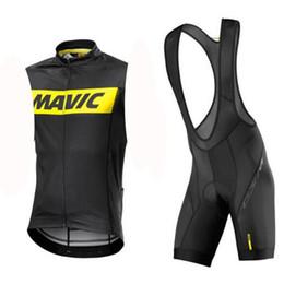 SleeveleSS cycle jerSeyS online shopping - 2019 Mavic Men Cycling sleeveless Jersey Breathable Bike Clothes Ropa Ciclismo Bike D gel pad bib shorts Set Sportswear clothingns