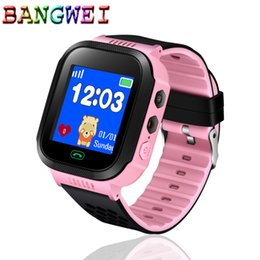 smart watch security NZ - BANGWEI fashion children's smart watch anti-lost security smart children's watch for IOS Android 1.44 inch color touch screen