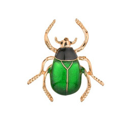 steel brooch UK - Fashion Gold Alloy Brooch for Men Cockroach Broaches Retro Insect Brooches Beetles Beetle Brooch Pin Accessories b196