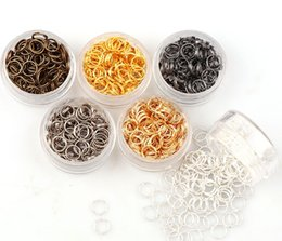 Alloy Findings Australia - 1000pcs lot 6mm alloy 5color Jump Rings Single Loops Open Jump Rings Split Rings For Jewelry Finding DIY