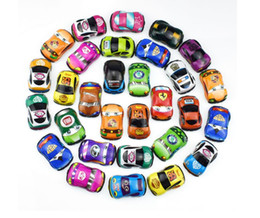 Mini Plastic Australia - Plastic color feedback mini scooter Pull Back Cars and plane Toy Cars for Child Wheels Mini Car Model Funny Kids Toys christmas gifts