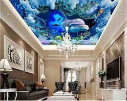 Cloth Meters Australia - Advanced Fashion Fantasy Three-dimensional Silk Cloth Wallpaper Underwater Marine Animals Zenith Murals 3d Wallpaper