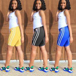 Hot girls sHort tank online shopping - Women Vest Tracksuit Champions Letter Summer Outfits Tank Tops Vest Shorts Pieces Sports Suit S XL Sportswear Joggers Set Hot A32607