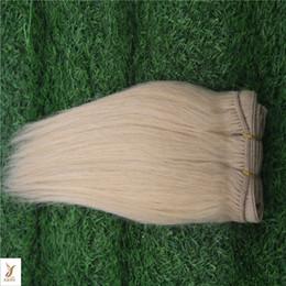 26 Platinum Blonde Human Hair Extensions Australia - Platinum Blonde Color Brazilian Virgin Hair Weave Bundles 100% Straight Hair Weaving 100% Human Hair Extension