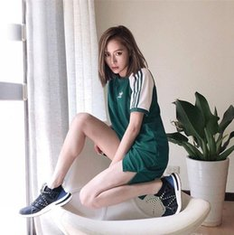 Lady S Dresses Australia - 2019 Women Dress Summer Dresses with AD Letters Fashion O Neck Lady Skirts Casual Short Sleeve Women Clothing 2 Colors S-2XL