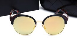Sunglasses Original Packing Australia - 1Pcs Womens Brand Sunglasses Evidence Sun glasses Designer Polished Black Frame Glasses Eyewear Come With Original Packing