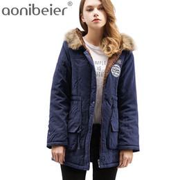 $enCountryForm.capitalKeyWord Australia - Aonibeier Parkas Women Coats Fashion Autumn Warm Winter Jackets Women Fur Collar Long Parka Plus Size Hoodies Cotton Outwear T190610