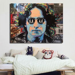 $enCountryForm.capitalKeyWord Australia - John lennon abstract Portrait Paintings Canvas Modern Art Decorative Wall Pictures For Living Room Home Decoration