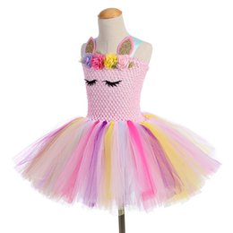 Chinese  hot sale Unicorn Party Girls TUTU Dress dance Costumes Summer Wedding Dresses For Kids manufacturers