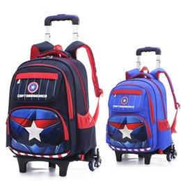 Children sChool trolley bags online shopping - 2 Wheels Kids Trolley Schoolbag Removable Girl Wheeled Backpack Boy Suitcase Case School Bag Children Waterproof BOOK Bags mochila