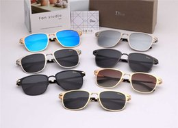 $enCountryForm.capitalKeyWord UK - 2018 Men Designer Luxury Sunglasses UV PolarizationFashion Women Sunglasses Vintage Metal Sport aviators Sun Glasses High Quality With Box