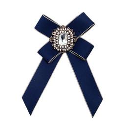 $enCountryForm.capitalKeyWord Australia - Romad Women Fashion Handmade Satin Ribbon Bow Tie Necktie Bowknot Shirt Tie Clips Brooch Tassel Crystal Pins Collar Jewelry Z3