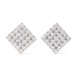 $enCountryForm.capitalKeyWord UK - 2019 top quality famous designer gold-plated square full diamond ear clip fashion stainless steel earrings women's clothing
