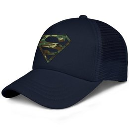 $enCountryForm.capitalKeyWord Australia - Camo Superman Logo S Shield kids baseball caps Curved Teen baseball cap Youth dark blue cap fashion baseball caps hats