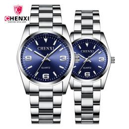 Discount valentine men watches - CHENXI Lovers' Quartz Watch Set Men Watch Women Valentine Clock Couple Watches Waterproof Wristwatch Masculino Relo