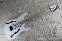 China guitar instruments online shopping - High quality Musical Instruments White Hollow Guitar Body Three Pickups IBZ Electric Guitar Lefty China OEM Custom Available
