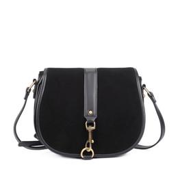88b9f7097f9c Черный старинные женщины седло мини Crossbody мешок свиньи пакеты лоскутное  SuedePU кожа маленькая сумка высокого качества дамы сумка CT22389