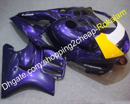 $enCountryForm.capitalKeyWord Australia - Motorbike ABS Body Parts For Honda CBR600 F3 1997 1998 CBR 600 CBRF 97 98 Purple Yellow Motorcycle Fairing Set (Injection molding)
