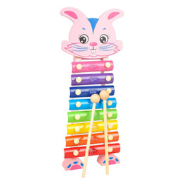 $enCountryForm.capitalKeyWord Australia - Rabbit Hand Knocks Xylophone Hand Knocks Jean Musical Instrument Toys Music Ability Training Wooden Percussion Instruments