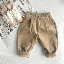 $enCountryForm.capitalKeyWord Australia - Wlg Winter Girls Velvet Pants Kids Thick Khakis Printed Printed Baby Pants Casual Clothes Throughout The Game Hot Pants 1 -6 Year