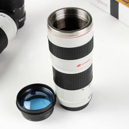 Camera Coffee online shopping - Camera Lens Travel Cup Stainless Steel Tea Coffee Mug Creative Gifts ml Outdoor Sport Portable Cups LLA260