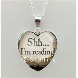 $enCountryForm.capitalKeyWord NZ - New Heart Necklace So Many Books So Little Time Heart Pendant Book Quote Pendant Jewelry Silver Heart Shaped Necklaces HZ3