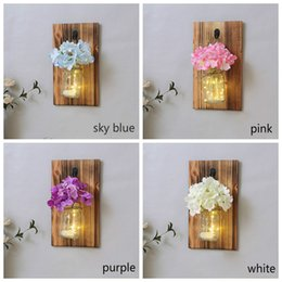$enCountryForm.capitalKeyWord Australia - Creative Wall Decoration Ins Room Decoration With Flower Light Battery Bedroom Home Decoration Wall Hanging Ornament