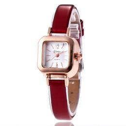 $enCountryForm.capitalKeyWord Australia - 2019 Luxury Women Watches Red Leather Black White Ladies Fashion Quartz Watch Dress Watch Clock Women Montre Femme Reloj mujer dropshipping