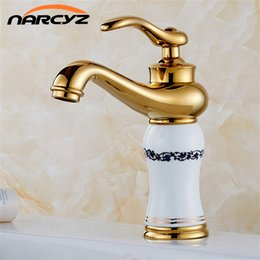 Royal Paintings Australia - Royal Style Solid Brass Grilled White Painted Porcelain Basin Mixer Taps Deck Mounted Sink Faucet XT601