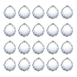 $enCountryForm.capitalKeyWord Australia - H&d 20pcs lot 20mm Clear Crystal Ball Prism Feng Shui Lamp Hanging Drop Chandelier Pendants Clear Suncatchers Wedding Home Decor J190713