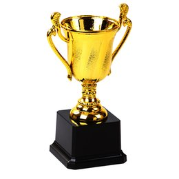prize toys NZ - Free Customize Trophy Cup Golden Plating Prize Award For Children Winner Souvenir Sports Awards Craft Kids Toys Mini Trofeos