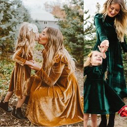 mother baby daughter clothes 2019 - autumn mother daughter dress full sleeve mommy and me dresses clothes family matching outfits look mom mum and baby girl