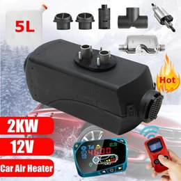 Discount 12v heaters for cars - 12V 2kw Diesels Air Parking Heater Air Heating LCD Switch with & Remote Control For Trucks Boats Bus Car Trailer Heater