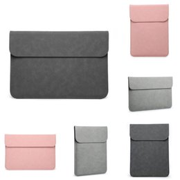 ultra thin laptops UK - Bag Wiwu Pu For Leather Macbook Pro 13 16 Ultra-Thin Laptop Sleeve For Macbook Pro 15 Water-Resistant For Macbook Air 13 Case #365