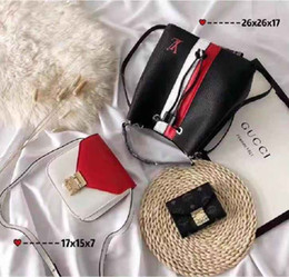 Discount paris flowers - Package(3 bags) Brand Bag Paris Brand Real Leather Handbag Designer Shopping Bag Shoulder Bag Fashion Clutch Bags Wallet
