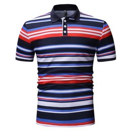 ae7cf25a0 good quality Spring Polo Shirt Men 2019 Turn-down Collar Top Brand Mens  Clothing Fashion Casual Short Sleeve Striped Slim Polo Shirt