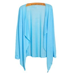 women summer thin cardigan NZ - Summer Women Long Thin Cardigan Modal Sun Protection Clothing Tops camisetas mujer Cape for swimsuit Beach cape blusas