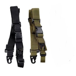 Wholesale 3 Point Airsoft Hunting Belt Tactica Army Green Gear Gun Sling Strap Outdoor Camping Survival Sling ht088