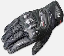 $enCountryForm.capitalKeyWord Australia - KOMINE GK-167 Carbon Fiber Mesh Motorsports Moto Dirt Bike Off-road Men's Black Gloves
