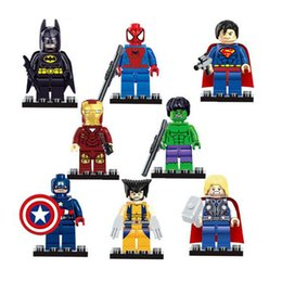 China SY180 Iron Man Spiderman Batman Green Giant Captain Playmobil Toys For Children supplier toys playmobil suppliers